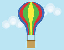 Hot Air Balloon. A hot air balloon flying in the sky Royalty Free Illustration