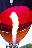 Hot air balloon. Detail of a hot air balloon Stock Photo