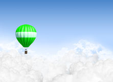 Hot Air Balloon Above The Clouds royalty free stock photo