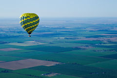 From hot air balloon above the valley royalty free stock photo