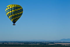 From hot air balloon above the valley Stock Photos
