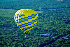 From hot air balloon above the valley Royalty Free Stock Photos