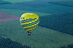From hot air balloon above the valley royalty free stock image