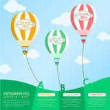 Hot air balloon abstract infographics Royalty Free Stock Photos