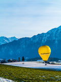 Hot air balloon advertising Stock Photo