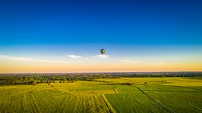 Hot air balloon against blue sky royalty free stock photography