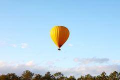 Hot air balloon in air Royalty Free Stock Image