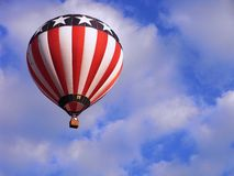 Hot air balloon America. Hot air balloon featuring the american stars and stripes Royalty Free Stock Photo