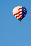 Hot Air Balloon with American Flag Stock Image