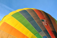 Hot Air Balloon and American Flag Stock Images