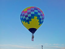 Hot air balloon with American flag Royalty Free Stock Photo