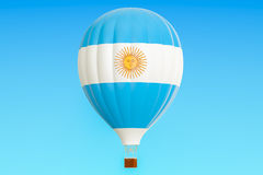 Hot air balloon with Argentina flag, 3D rendering Stock Images