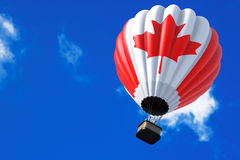 Hot Air Balloon as Canada Flag stock images