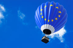 Hot Air Balloon as Europe Flag Royalty Free Stock Photo