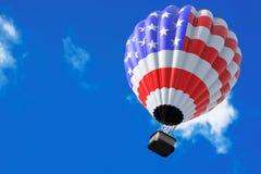 Hot Air Balloon as USA Flag Royalty Free Stock Image