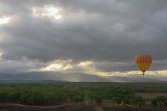 Hot air balloon. In Australia royalty free stock photo