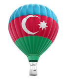 Hot Air Balloon with Azerbaijani Flag (clipping path included) Royalty Free Stock Photography