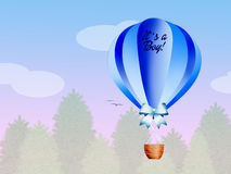 Hot air balloon for baby boy Stock Image