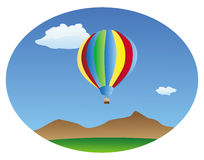Hot air balloon background Stock Photography