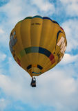 Hot air balloon background on the sky. Stock Photo