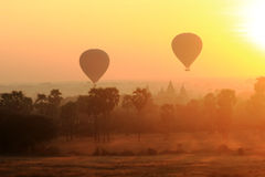 Hot air balloon in Bagan Royalty Free Stock Photo
