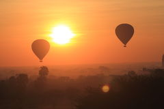 Hot air balloon in Bagan Royalty Free Stock Image