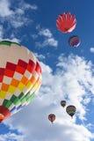 Hot Air Balloon. S lifting off at the Snowdown balloon festivle in Durango, Colorado stock photography