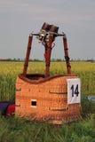 Hot air balloon basket royalty free stock photography