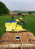 Hot air balloon and basket Royalty Free Stock Images