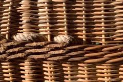 Hot air balloon basket Royalty Free Stock Images