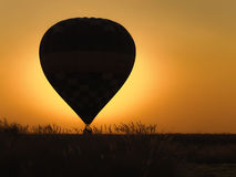 Hot air balloon with beautiful sunset background Royalty Free Stock Image