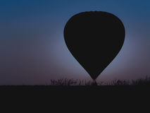 Hot air balloon with beautiful twilight background Royalty Free Stock Images