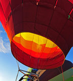 Hot air balloon being inflated Royalty Free Stock Images