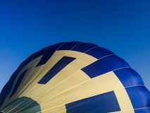 Hot Air Balloon Being Inflated Royalty Free Stock Photo