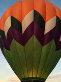 Hot Air Balloon. Being inflated with burners on Stock Images