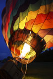 Hot Air Balloon Being Inflated Royalty Free Stock Photos