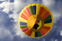 Hot Air Balloon from Below Stock Photo
