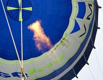 Hot-air balloon and big gas flame Royalty Free Stock Photos