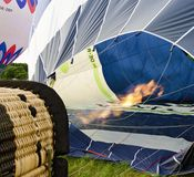 Hot-air balloon and big gas flame Stock Photography