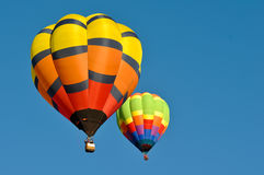 Hot Air Balloon in the Blue Sky Royalty Free Stock Images