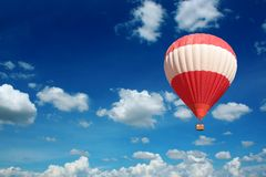 Hot Air Balloon and blue sky Stock Photography