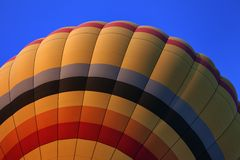 Hot air balloon on blue sky Royalty Free Stock Image