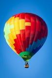 Hot air balloon. On blue sky Stock Photo