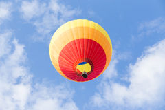 Hot air balloon and blue sky background. Hot air balloon with blue sky background Stock Photos