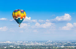 Hot air balloon with blue sky background Royalty Free Stock Photo