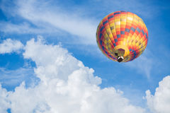 Hot air balloon with blue sky background. Colorful Hot air balloon with blue sky background Stock Photo