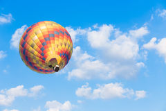 Hot air balloon with blue sky background. Colourful Hot air balloon with blue sky background Royalty Free Stock Images