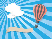 Hot air balloon in the blue sky. Vector EPS10 Royalty Free Stock Images