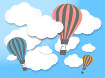 Hot air balloon in the blue sky. Vector EPS10 Stock Image