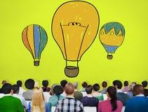 Hot Air Balloon Bulb Ideas Imagination Flight Concept Royalty Free Stock Images